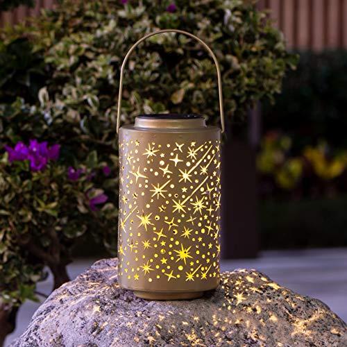 Lanterna Solare Esterno, LED Lampade Solari da Giardino Decorative Luci Solari Sospensione Disegno IP65 Impermeabile per Decorativo Parco Patio Feste Giardino Cortile Passerella Esterno Natale