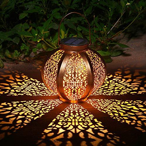 Lanterne Luci Solari Giardino Decorazioni Giardino per Esterno Illuminazione Giardino per Portico Percorso (A)