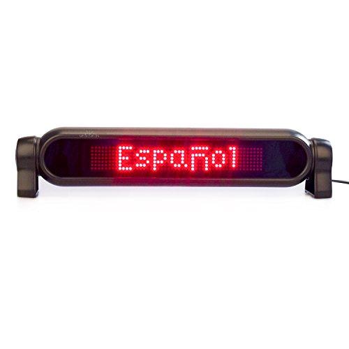 Leadleds, cartello a LED con messaggio scorrevole rosso, 7x 50pixel, con telecomando, per lunotto dell'auto, collegato ad accendisigari DC 12 V - programma veloce