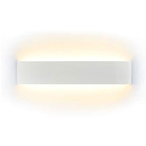 LED Lampada da Parete 16W Bianco Caldo, Moderno Up Down Applique da Parete con 110V-260V, Interni Lampada a Muro per Bagno Lampada Soggiorno Camera da Letto Scale Corridoio Luce Notturna