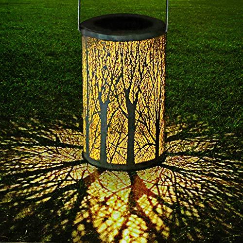 LED Lanterna Solare, GolWof Lampada da Giardino Luci Solari Sospensione Disegno marocchino IP44 Impermeabile Ricaricabile Portatile per Decorativo Patio Aperto Giardino Cortile Passerella Esterno