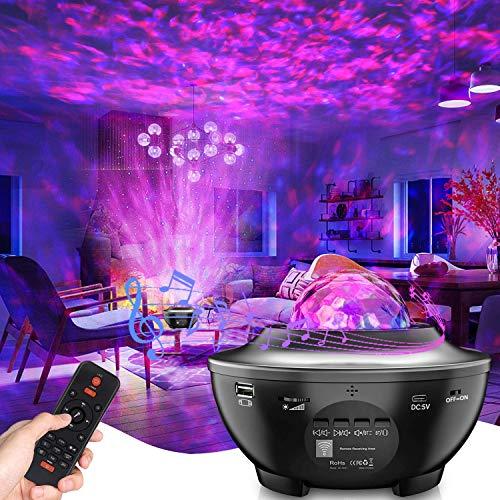 LED Proiettore Cielo Stellato Lampada , Proiettore a Luce Stellare, Proiettore Stellato Bluetooth, LED Luce Rotante Nebulosa con Timer e Telecomando, per Bambini/Adulti/Regalo/Decorazioni