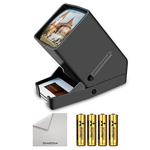 LED proiettore di diapositive,Visualizzatore diapositive e negativi da 35 mm, Ingrandimento 3x