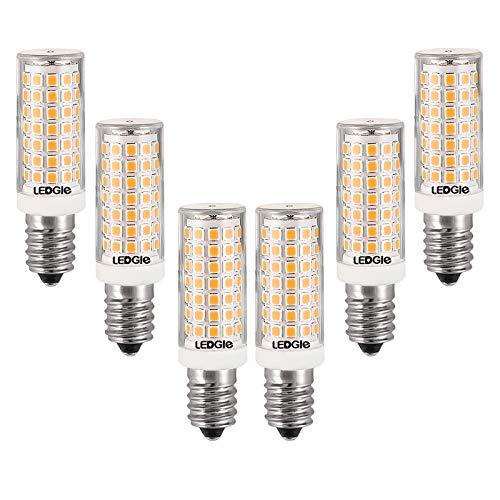 LEDGLE 8W Lampadine a LED E14 Lampadina a LED, 88 LED, 700lm, bianco caldo, 3000K, dimmerabile, ampio angolo di emissione, equivalente a lampadina tradizionale 80W, 6 pezzi