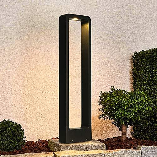 LEDMO 12W Lampione da giardino, Palo luminoso da giardino 3000K bianco caldo 1000lm,Paletti esterni led 60cm IP65 Luce LED da giardino utilizzato in cortili, strade e parchi.
