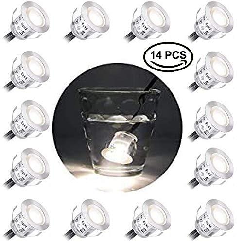 LEDMO 14 Pezzi 9W Faretti LED Incasso, Plafoniera da incasso 3000K Bianco Caldo Faretti da Incasso per Cartongesso, Impermeabile IP67 Faretti Esterno Interno,Luce Segnapasso