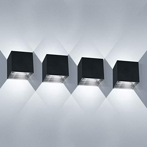 LEDMO Lampada da Parete per Interni/Esterno 12W*4 LED Moderno,Lampade da Parete su e Giù Regolabile Design Applique LED IP65 Impermeabile
