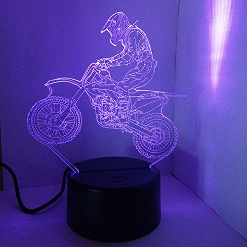 LEDMOMO Decorazione della lampada LED 3D Lampada da tavolo della moto Decorazione della casa Miglior regalo per Festival Toccare l'interruttore