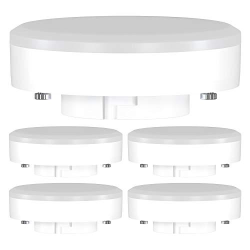 ledscom.de GX53 LED Lampadina 10W=74W 1000lm 2700K 120° Strahler bianca calda, 5 PZ