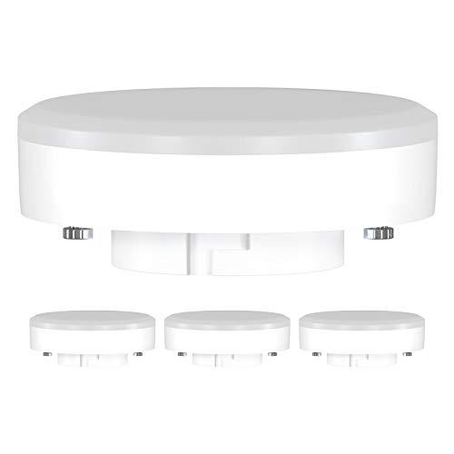 ledscom.de GX53 LED Lampadina 10W=74W 1000lm 4100K 120° Strahler bianca, 4 PZ