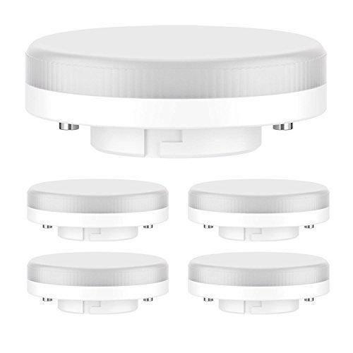 ledscom.de GX53 LED Lampadina 4W=28W 280lm 100° bianca, 5 PZ