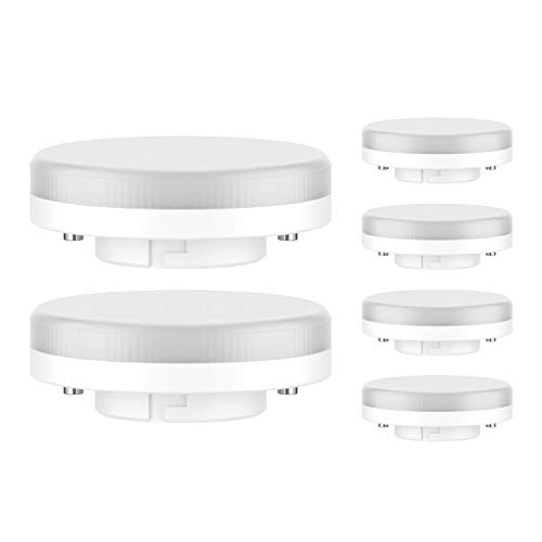 ledscom.de GX53 LED Lampadina 4W=28W 280lm 100° bianca, 6 PZ