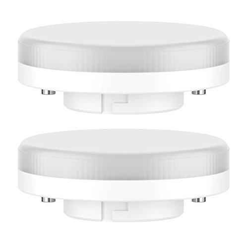 ledscom.de GX53 LED Lampadina 4W=28W 280lm 100° bianca calda, 2 PZ