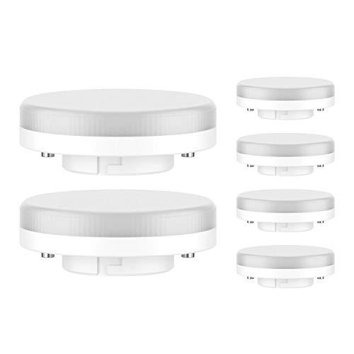 ledscom.de GX53 LED Lampadina 4W=28W 280lm 100° bianca calda, 6 PZ