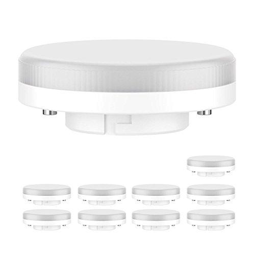 ledscom.de GX53 LED Lampadina 6.3W=40W 450lm 100° bianca calda, 10 PZ