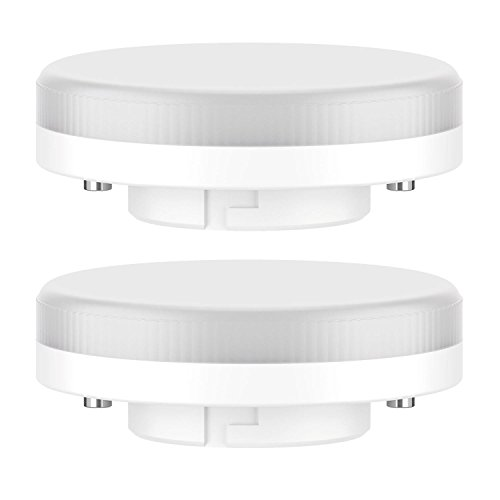 ledscom.de GX53 LED Lampadina 6.3W=40W 450lm 100° bianca calda, 2 PZ