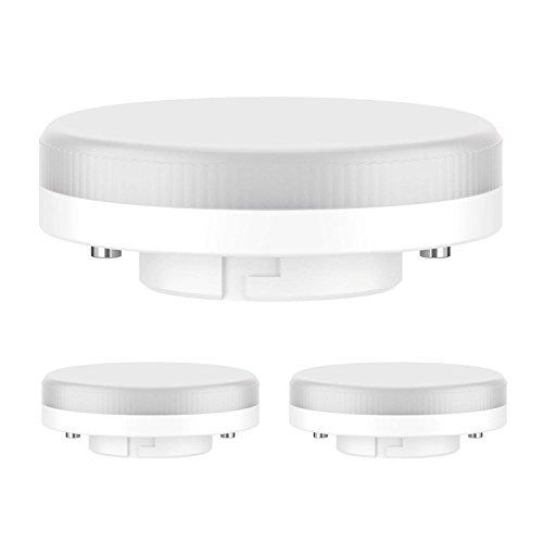 ledscom.de GX53 LED Lampadina 6.3W=40W 450lm 100° bianca calda, 3 PZ
