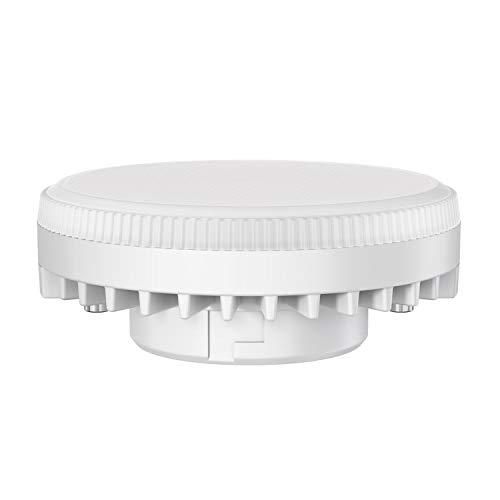 ledscom.de GX53 LED Lampadina 6W=38W 420lm bianca calda 3-livelli (1. livello= 420lm 2. livello= 210lm 3. livello= 63lm) dimmerabile senza dimmer con interruttore, 5 PZ