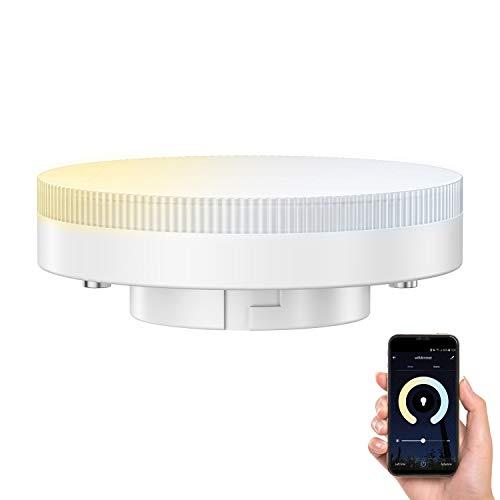ledscom.de Smart GX53 LED Lampadina per Amazon Alexa, dimmerabile 4,5W=38W 420lm 100° dimmerabile e temperatura di colore regolabile (2700K - 4100K)