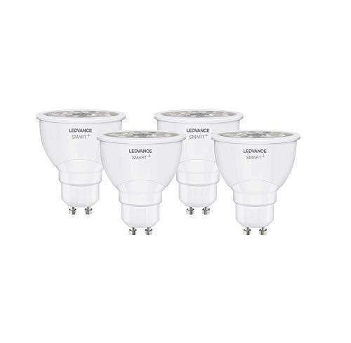 Ledvance Smart Lampadina LED Zigbee con Riflettore PAR16, GU10, 50 W Equivalenti, Luce Colorata RGBW
