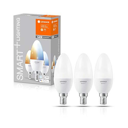LEDVANCE SMART+ WiFi Candle Tunable White Lampada LED, E14, Tunable White, 2700-6500K, 5W-40W