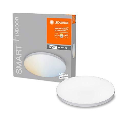 LEDVANCE WiFi PLANON Frameless RD45 TWLEDV Smart+ MULTICOLOR/20 W per Soffitto, Ampiezza Fascio Luminoso 110, Tunable White/RGB, 3000-6500 K, Alluminio, IP20 28 W, Bianco, Durchmesser 40cm