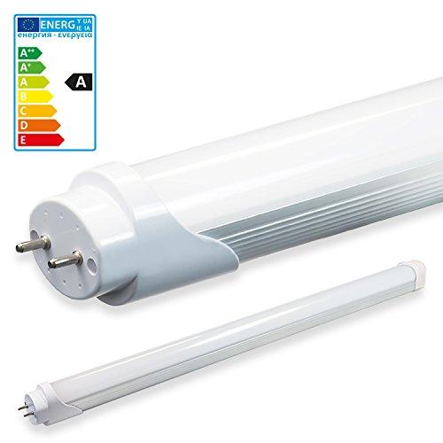 LEDVero 1x SMD Tubo/tubo LED fluorescente T8 G13 -Cover bianco opaco 60 cm, 8 W, 800lumen- pronto per l'installazione, Colore Luce:bianco caldo
