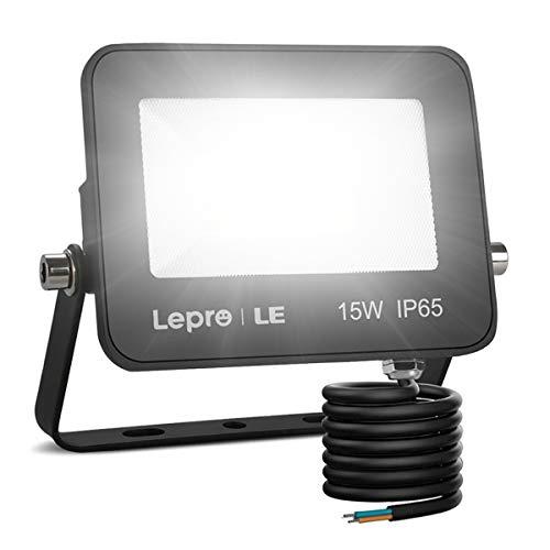 Lepro Faretto LED da Esterno 15W 1300 lumen, Faro LED Esterno Bianco Diurno 5000K, Proiettore da Esterno Impermeabile IP65, Luce di Sicurezza per Giardino, Corridoio, Illuminazione Interna ed Esterna