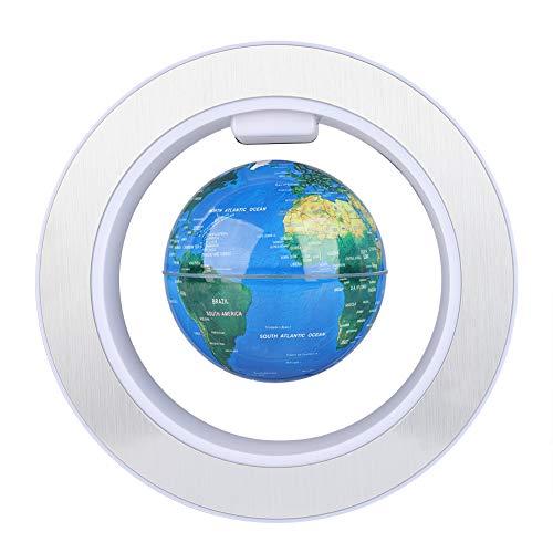Levitazione Magnetica Galleggiante Globo Rotante Mappamondo con Decorazione a LED (Blue)