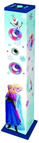 Lexibook Disney Frozen Elsa Altoparlante a torre Bluetooth, Luci LED, 1 microfono, Blu, K8050FZ
