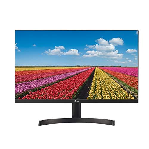 "LG 24MK600M Monitor 24"" Full HD LED IPS, 1920x1080, 5ms, AMD FreeSync 75Hz, Multitasking, VGA, HDMI, Borderless, Flicker Safe, Nero"