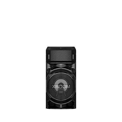 LG RN5.DEUSLLK XBOOM RN5 Altoparlante Bluetooth Portatile 500W 2 Canali - Cassa Bluetooth con Lettore USB, Radio DAB / FM, Super Bass Boost, Luci LED Multicolor, Ingresso Chitarra, Nero
