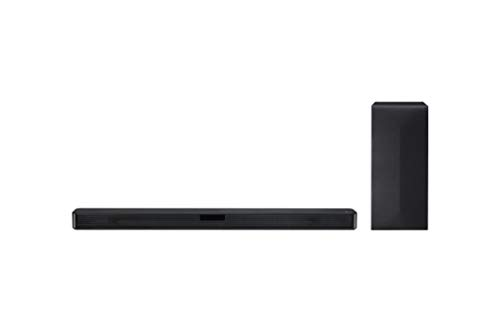 LG SN4 Soundbar TV Bluetooth 300W 2.1 Canali con Subwoofer Wireless, Tecnologia DTS Virtual:X, Dolby Digital, AI Sound Pro, Ingresso Ottico, USB, HDMI, Nero