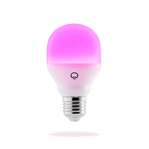 LIFX Mini E27 Lampadina a LED Wi-Fi Smart, Regolabile, Multicolor, Dimmerabile, non Richiede un Hub, Funziona con Alexa, Apple HomeKit e Google Assistant