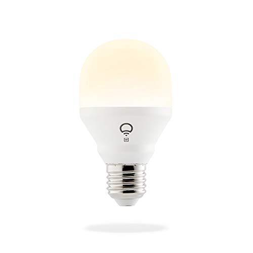 LIFX Mini White E27 Lampadina a LED Wi-Fi Smart, Regolabile, Bianco Caldo, non Richiede un Hub, Funziona con Alexa, Apple HomeKit e Google Assistant, Set da 1 L3A19MW08E27