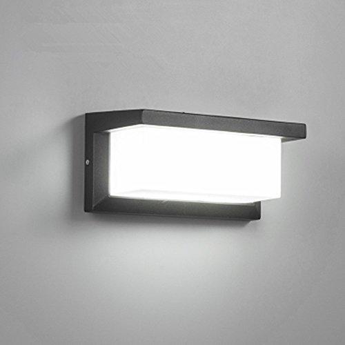 Lightess 12W Lampada da Parete Esterno LED Impermeabile IP65 Applique da Parete Esterno per Giardino, Garage, Officina, Cordile, Bianco Freddo