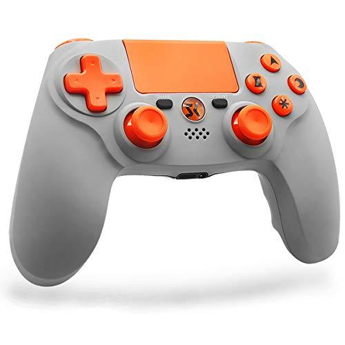Lioeo PS4 Controller ,Silicone Liquido Premium,Bluetooth Controller per Playstation 4/Pro/ Slim,PC Pannello tattile Joypad con Joystick per Giochi a Doppia Vibrazione TouchPad e 3.5mm Jack Audio