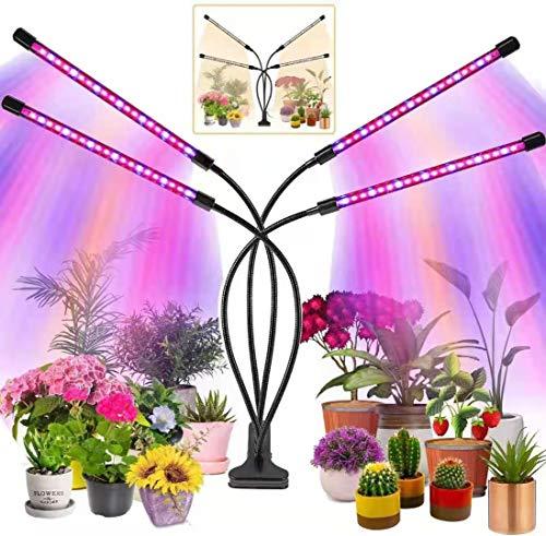 LIYUU Lampada per Piante,Lampada Piante Indoor di Spettro Completo,80 LED 40W Lampada Piante Coltivazione,Grow Light per Semina,Crescita,Fioritura e Fruttificazione