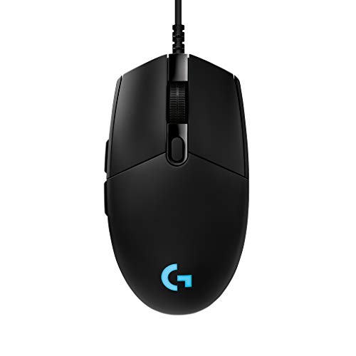 Logitech G PRO Mouse Gaming, Sensore HERO 25K, 25.600 DPI, RGB, Ultraleggero, Progettato per eSport, 6 Pulsanti Programmabili, Memoria Integrata, PC/Mac/Laptop, Nero