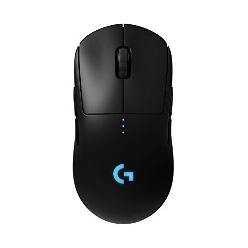 Logitech G PRO Mouse Gaming Wireless, Sensore HERO 25K, 25.600 DPI, RGB, Ultraleggero, Progettato per eSport, 4-8 Pulsanti Programmabili, POWERPLAY-compatibile, PC/Laptop, Nero