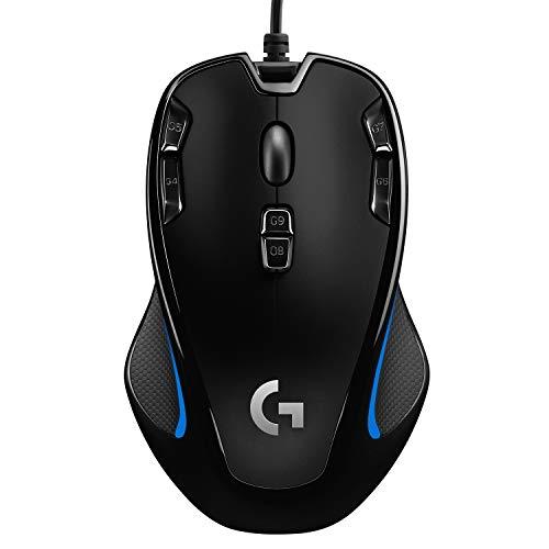 Logitech G300s Mouse Gaming Ottico, 2.500 DPI, RGB, Design Leggero, 9 Pulsanti  Programmabili, Memoria Integrata, Per Entrambe le Mani, Compatibile con PC/Mac/Laptop, Nero