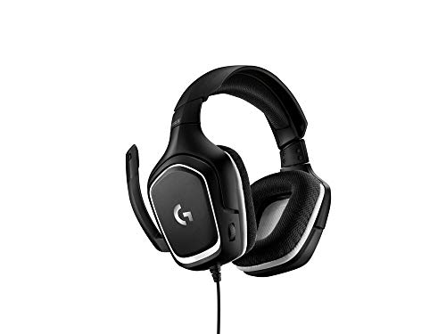 Logitech G332 Cuffie Gaming Cablate, Audio Stereo, Driver da 50 mm, Jack Audio 3.5 mm, ‎Microfono Flip-To-Mute, Padiglioni Rotanti, Leggere, PC/Mac/Xbox One/PS4/Nintendo ‎Switch, ‎Nero Sportmesh