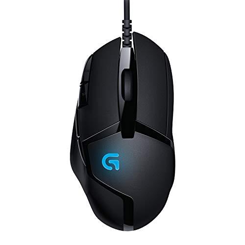 Logitech G402 Mouse Gaming Hyperion Fury, 4.000 DPI, Design Leggero, 8 Pulsanti Programmabili, Compatibile con PC/Mac/Laptop, PC/Mac, Nero - Imballaggio per Europa