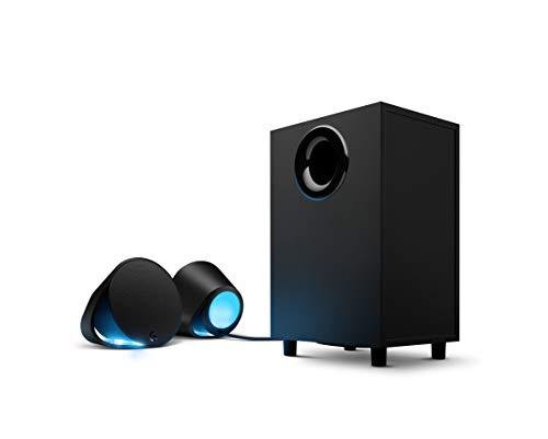 Logitech G560 2.1 Sistema di Altoparlanti Gaming, Lightsync, 7.1 DTS: X Surround Sound, 240 Watt, Illuminazione RGB, Bluetooth Wireless, 3.5 mm e Porta USB, PC/Mac/Lettore Musicale/Smartphone/Tablet