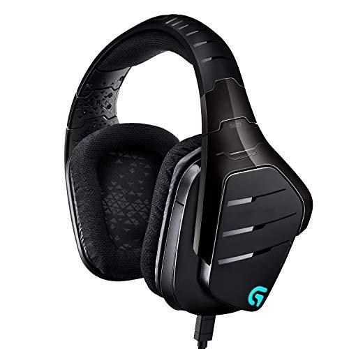 Logitech G633 Artemis Spectrum PRO Gaming Cuffia Cablata 7.1, con Microfono per PC/Xbox One/PS4, Nero