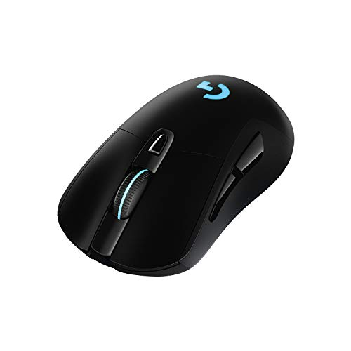 Logitech G703 LIGHTSPEED Mouse Gaming Wireless, Sensore HERO 25K, LIGHTSYNC RGB, POWERPLAY-compatibile, Leggero 95 g + 10 g Opzionale, 25.600 DPI, PC/Mac, Nero - Imballaggio per Europa