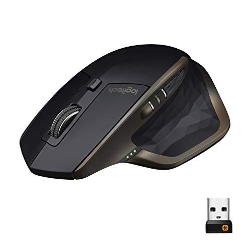 Logitech MX Master Mouse Wireless Amz, Bluetooth/2.4 GHz Con Mini Ricevitore USB Unifying, Tracciamento Laser 1000 DPI Qualsiasi Superficie, 5 Pulsanti, Versione Amazon, PC/Mac/Laptop, Nero Grafite