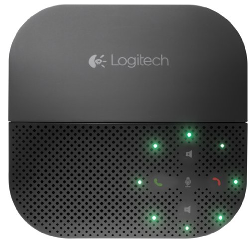 Logitech P710e Mobile Speakerphone Altoparlante Vivavoce Bluetooth Wireless, Chiamate Hands-Free, Videoconferenze, Audio Chiaro, Cancellazione Rumore, Multidispositivo, PC/Mac/Smartphone/Tablet