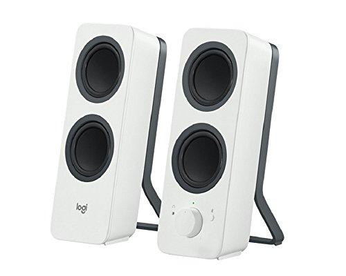 Logitech Z207 Altoparlanti per PC Wireless Bluetooth, Audio Stereo, 10 Watt, Ingresso Audio 3.5 mm, Jack per Cuffie, Multidispositivo, Easy Switch , Presa UK, PC/TV/Smartphone/Tablet, Bianco