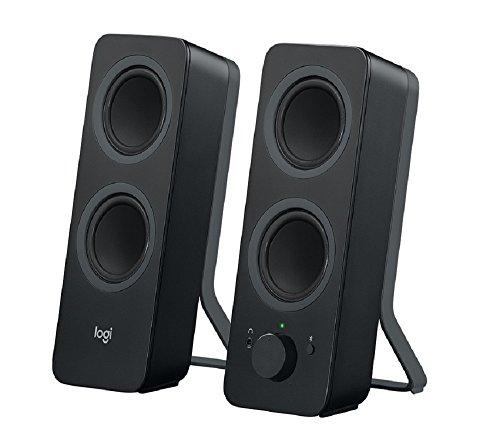 Logitech Z207 Altoparlanti per PC Wireless Bluetooth, Audio Stereo, 10 Watt, Ingresso Audio 3.5 mm, Jack per Cuffie, Multidispositivo, Easy Switch , Presa UK, PC/TV/Smartphone/Tablet, Nero